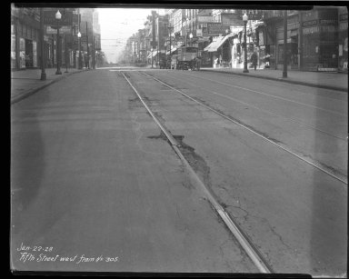 Street Improvement Photographs -- Box 35, Folder 31 (Fifth Street) -- negative, 1928-01-22