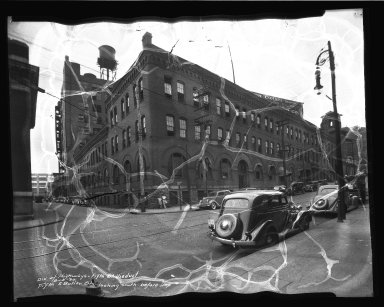 Street Improvement Photographs -- Box 35, Folder 33 (Fifth Street) -- negative, 1936-08-10