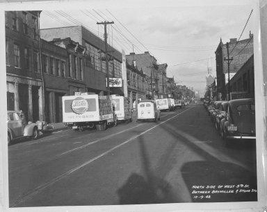 Street Improvement Photographs -- Box 35, Folder 37 (Fifth Street) -- negative, 1948-10-19