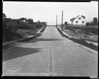 Street Improvement Photographs -- Box 35, Folder 39 (First Street) -- negative, 1929-08-17