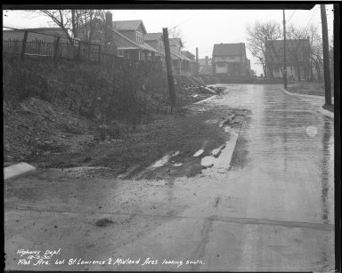 Street Improvement Photographs -- Box 35, Folder 40 (Fisk Avenue) -- negative, 1930-12-05