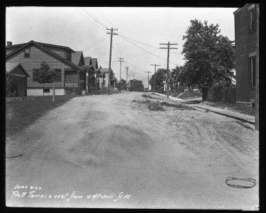 Street Improvement Photographs -- Box 35, Folder 41 (Flatt Terrace) -- negative, 1927-06-09