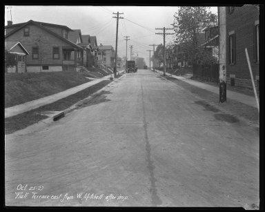 Street Improvement Photographs -- Box 35, Folder 41 (Flatt Terrace) -- negative, 1927-10-25