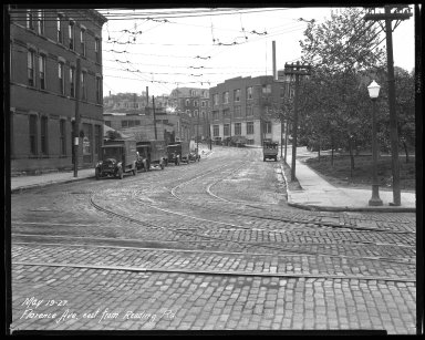 Street Improvement Photographs -- Box 35, Folder 42 (Florence Avenue) -- negative, 1927-05-19