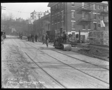 Street Improvement Photographs -- Box 35, Folder 42 (Florence Avenue) -- negative, 1926-11-23