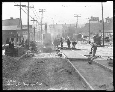 Street Improvement Photographs -- Box 35, Folder 42 (Florence Avenue) -- negative, 1926-11-23
