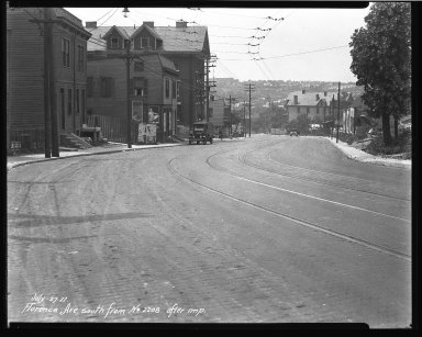 Street Improvement Photographs -- Box 35, Folder 42 (Florence Avenue) -- negative, 1927-07-27