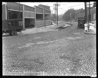 Street Improvement Photographs -- Box 35, Folder 43 (Florence Avenue) -- negative, 1926-09-29