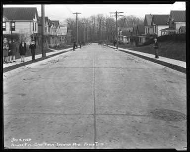Street Improvement Photographs -- Box 35, Folder 44 (Flower Avenue) -- negative, 1929-01-04