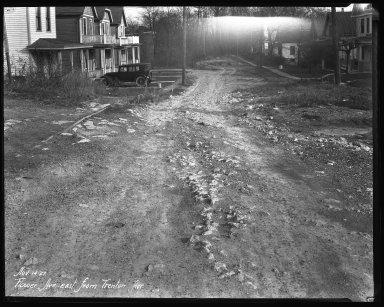 Street Improvement Photographs -- Box 35, Folder 44 (Flower Avenue) -- negative, 1927-11-14