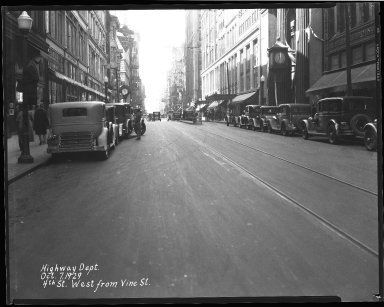 Street Improvement Photographs -- Box 35, Folder 45 (Fourth Street) -- negative, 1929-10-07