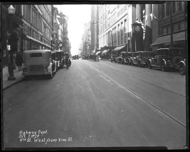 Street Improvement Photographs -- Box 35, Folder 45 (Fourth Street) -- negative, 1929-02-04