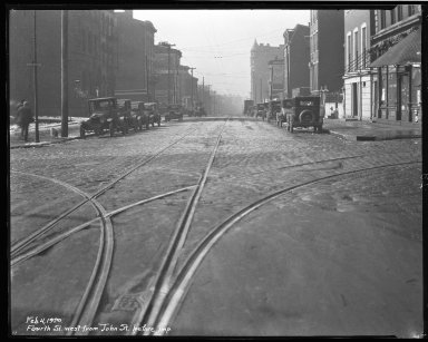 Street Improvement Photographs -- Box 35, Folder 45 (Fourth Street) -- negative, 1929-02-04