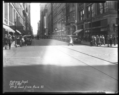 Street Improvement Photographs -- Box 35, Folder 46 (Fourth Street) -- negative, 1929-10-07