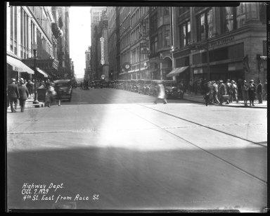 Street Improvement Photographs -- Box 35, Folder 46 (Fourth Street) -- negative, 1929-10-07