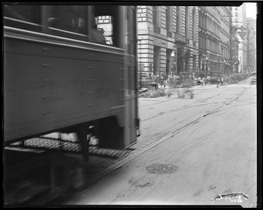 Street Improvement Photographs -- Box 35, Folder 47 (Fourth Street) -- negative, 1929