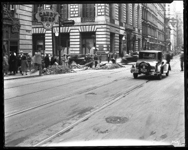 Street Improvement Photographs -- Box 35, Folder 47 (Fourth Street) -- negative, 1929