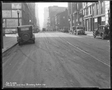 Street Improvement Photographs -- Box 35, Folder 48 (Fourth Street) -- negative, 1929-02-04