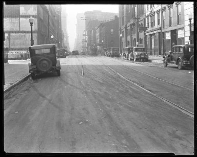 Street Improvement Photographs -- Box 35, Folder 48 (Fourth Street) -- negative, 1929