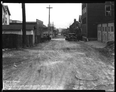 Street Improvement Photographs -- Box 35, Folder 49 (Fowler Street) -- negative, 1932-02-14