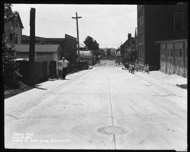 Street Improvement Photographs -- Box 35, Folder 49 (Fowler Street) -- negative, 1932-06-30