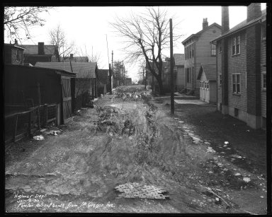 Street Improvement Photographs -- Box 35, Folder 49 (Fowler Street) -- negative, 1930-01-06
