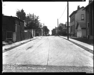 Street Improvement Photographs -- Box 35, Folder 49 (Fowler Street) -- negative, 1930-08-21