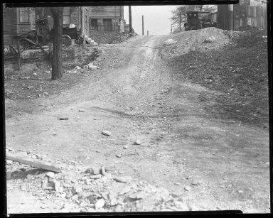 Street Improvement Photographs -- Box 35, Folder 50 (Fowler Street) -- negative, 1931-04-16