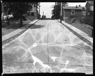 Street Improvement Photographs -- Box 35, Folder 50 (Fowler Street) -- negative, 1931-07-27
