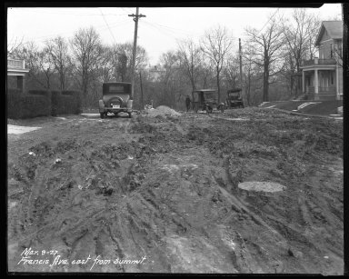 Street Improvement Photographs -- Box 35, Folder 51 (Francis Avenue) -- negative, 1927-03-09