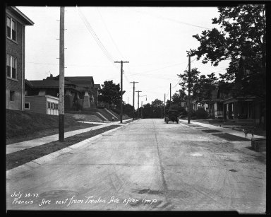 Street Improvement Photographs -- Box 35, Folder 51 (Francis Avenue) -- negative, 1927-07-26