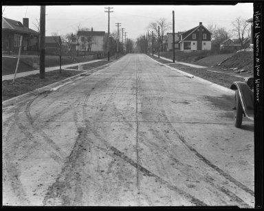 Street Improvement Photographs -- Box 35, Folder 52 (Franklin Avenue) -- negative, 1929-01-21
