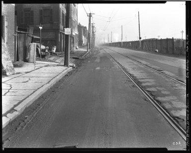 Street Improvement Photographs -- Box 35, Folder 55 (Front Street) -- negative, 1929-02-26