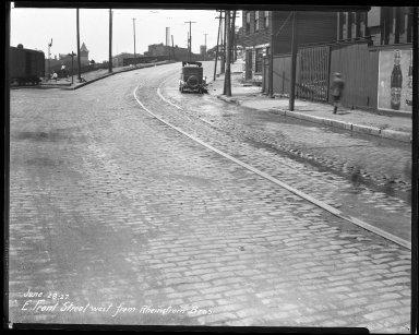 Street Improvement Photographs -- Box 35, Folder 55 (Front Street) -- negative, 1927-06-28