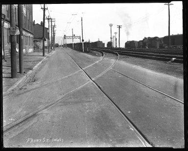 Street Improvement Photographs -- Box 35, Folder 55 (Front Street) -- negative, 1927-10-10