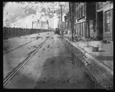 Street Improvement Photographs -- Box 35, Folder 56 (Front Street) -- negative, 1929