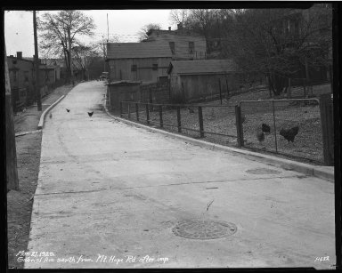 Street Improvement Photographs -- Box 35, Folder 58 (Gabriel Avenue) -- negative, 1929-03-27