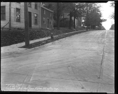 Street Improvement Photographs -- Box 35, Folder 60 (Gamble Avenue) -- negative, 1930-09-30