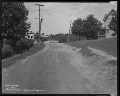Street Improvement Photographs -- Box 35, Folder 61 (Gate Street) -- negative, 1932-07-15