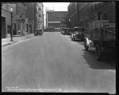 Street Improvement Photographs -- Box 36, Folder 02 (Genessee Street) -- negative, 1929-06-22