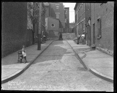 Street Improvement Photographs -- Box 36, Folder 03 (Geneva Court) -- negative, 1930-05-05