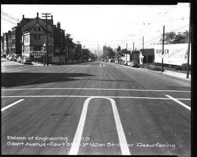 Street Improvement Photographs -- Box 36, Folder 06 (Gilbert Avenue) -- negative, 1951-09-29