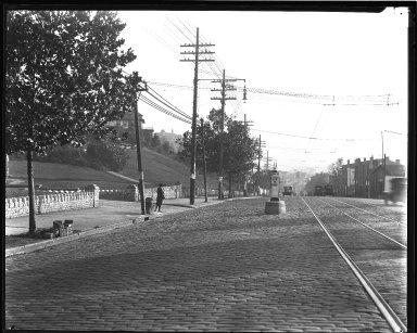 Street Improvement Photographs -- Box 36, Folder 09 (Gilbert Avenue Viaduct) -- negative, 1927
