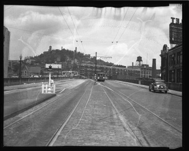 Street Improvement Photographs -- Box 36, Folder 11 (Gilbert Avenue Viaduct) -- negative, 1945