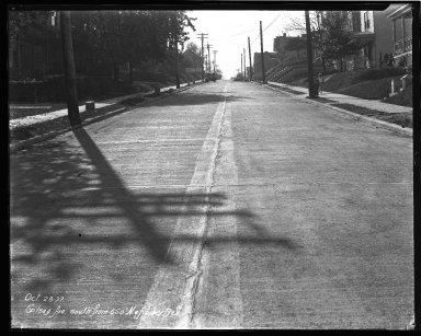 Street Improvement Photographs -- Box 36, Folder 12 (Gilsey Avenue) -- negative, 1927-10-28