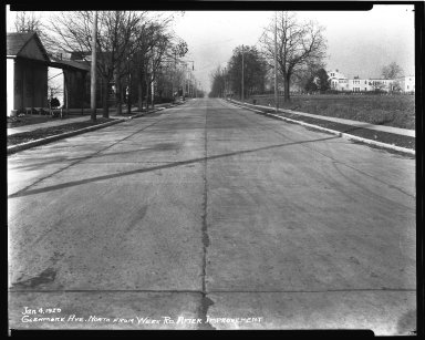 Street Improvement Photographs -- Box 36, Folder 16 (Glenmore Avenue) -- negative, 1929-01-04