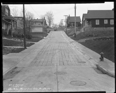 Street Improvement Photographs -- Box 36, Folder 17 (Glen Parker Avenue) -- negative, 1931-11-30