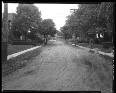 Street Improvement Photographs -- Box 36, Folder 18 (Glenshade Avenue) -- negative, 1929