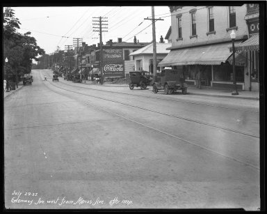 Street Improvement Photographs -- Box 36, Folder 20 (Glenway Avenue) -- negative, 1927-07-29