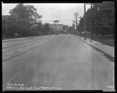 Street Improvement Photographs -- Box 36, Folder 20 (Glenway Avenue) -- negative, 1929-06-12